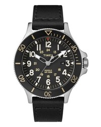 Timex Allied Leather Strap Watch