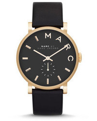 Marc by Marc Jacobs Baker Analog Watch With Leather Strap Goldenblack