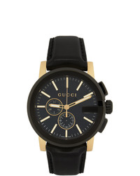 Gucci Black And Gold G Chrono Watch