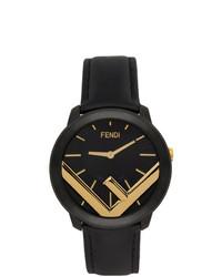 Fendi Black And Gold Run Away F Is Watch