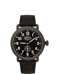 Shinola Black And Gunmetal The Runwell 41mm Watch