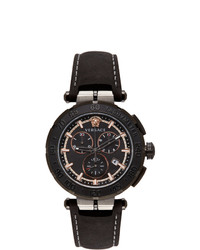 Versace Black Greca Chrono Watch