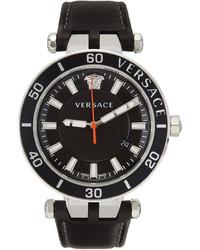 Versace Black Greca Sport Watch