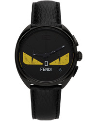 Fendi Black Moto Bag Bugs Chronograph Watch