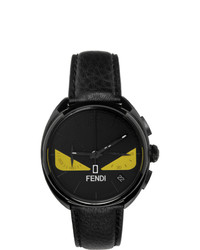 Fendi Black Moto Bugs Chronograph Watch