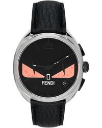 Fendi Black Pink Moto Bag Bugs Chronograph Watch
