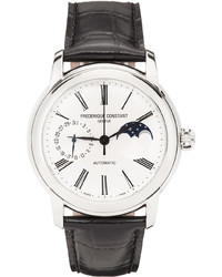 Frederique Constant Black Silver Classic Moonphase Watch