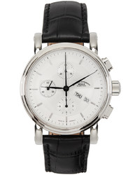 Mühle-Glashütte Black Silver Teutonia Ii Chronograph Watch