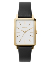 Breda Br Rectangular Leather Watch