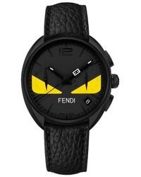 Fendi Bug Chronograph Leather Strap Watch 40mm