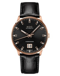 MIDO Commander Ii Skeleton Leather Watch