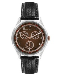 Ted Baker London Daquir Multifunction Leather Watch