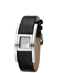 Eziba Joy Cuadrods Black Leather Watch