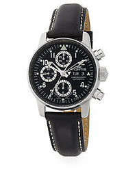 Fortis Flieger Automatic Limited Edition Stainless Steel Leather Chronograph Watch