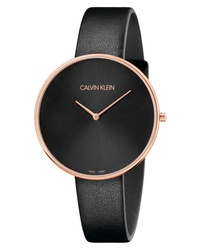 Calvin Klein Full Moon Leather Band Watch