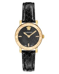 Versace Greca Glass Snakeskin Watch