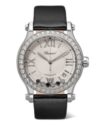 Chopard Happy Sport 36mm Stainless Satin And Diamond Watch