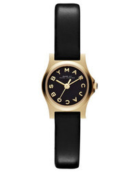 Marc by Marc Jacobs Henry Dinky Analog Watch With Leather Strap Goldenblack