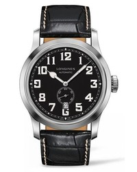 Longines Heritage Automatic Military Leather Strap Watch