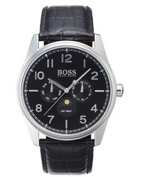 BOSS Heritage Chronograph Leather Strap Watch 43mm