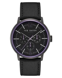 Ted Baker London Jason Multifunction Leather Strap Watch