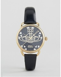 Vivienne Westwood Leadenhall Black Leather Watch Vv163bkbk