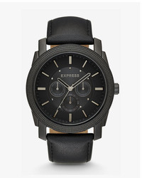 Express Leather Strap Multi Function Watch