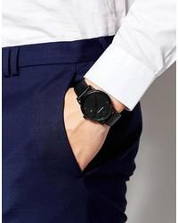 8a3c92a6 Emporio Armani Leather Watch In Black Ar1732, $176 | Asos ...