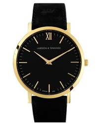 Lugano leather strap watch 40mm medium 3753511