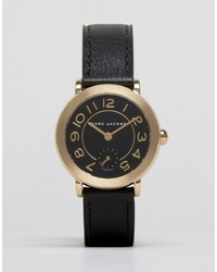 Marc Jacobs Black Leather Riley Watch Mj1471