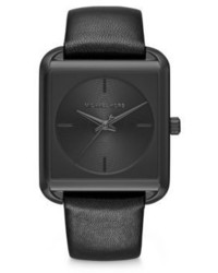 98a92fe6ee2e ... Michael Kors Michl Kors Lake Black Stainless Steel Leather Strap Watch