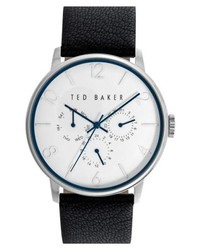 Ted Baker London Multifunction Leather Strap Watch