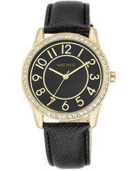 Nine West Analise Leather Strap Watch