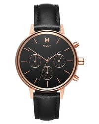 MVMT Nova Chronograph Leather Watch