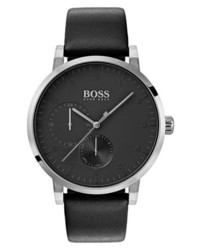 BOSS Oxygen Chronograph Leather Strap Watch