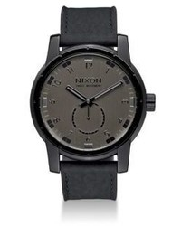 Nixon Patriot Stainless Steel Leather Strap Watch