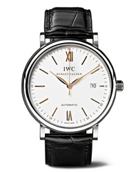 IWC SCHAFFHAUSEN Portofino Automatic 40mm Stainless And Alligator Watch