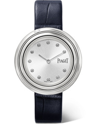 Piaget Possession 34mm Stainless Alligator And Diamond Watch