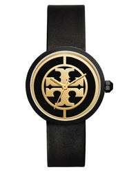 Tory Burch Reva Logo Dial Leather Watch