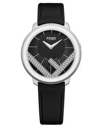 Fendi Run Away Diamond Leather Watch
