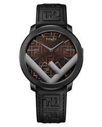 Fendi Run Away Leather Watch
