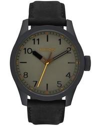 Nixon Safari Leather Strap Watch 43mm