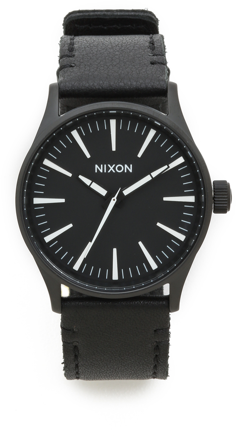 sentry watches watch green palm ss brass nixon