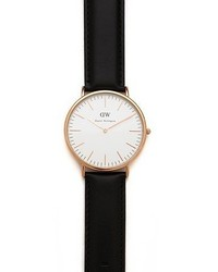 Daniel Wellington Sheffield 40mm Watch With Black Leather Band