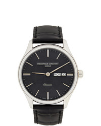 Frederique Constant Silver And Black Classics Quartz Watch
