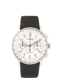 Junghans Silver And Black Meister Telemeter Watch