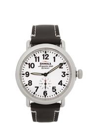 Shinola Silver And White The Runwell 41mm Watch