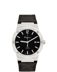 Salvatore Ferragamo Silver Snakeskin F 80 Classic Watch