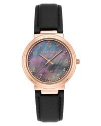 Anne Klein Solar Powered Leather Watch