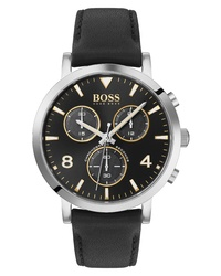 BOSS Spirit Chronograph Leather Watch